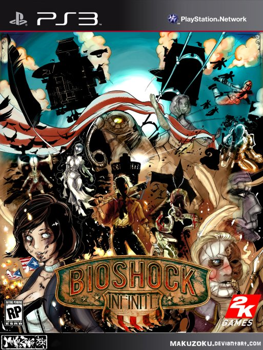 """BioShock Infinite box art"" by Maku Zoku"