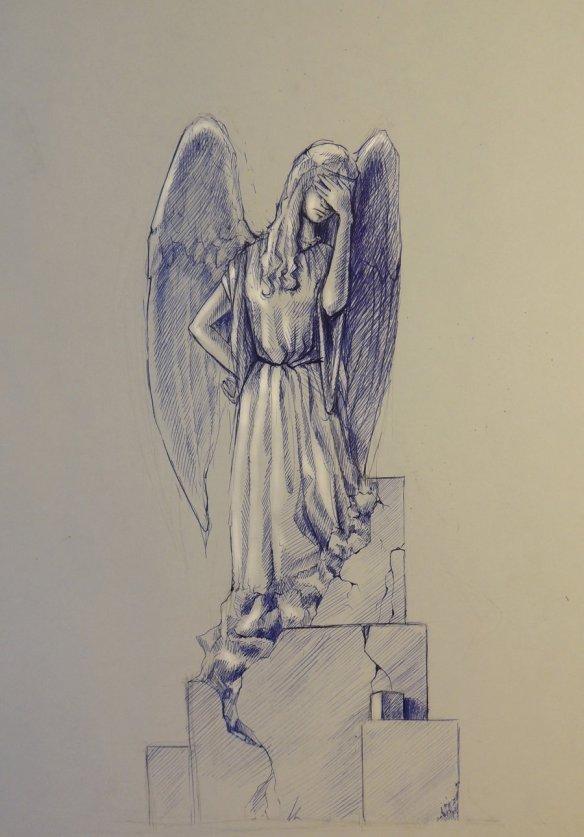 The Facepalming Angel by Kalashnikova Elena