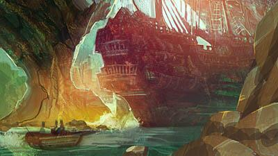 """Ships Stern in Sunlight"" by Jessie Lam"