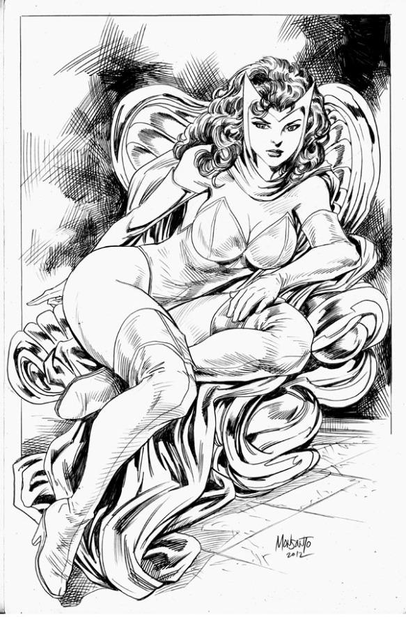 Scarlet Witch by gammaknight