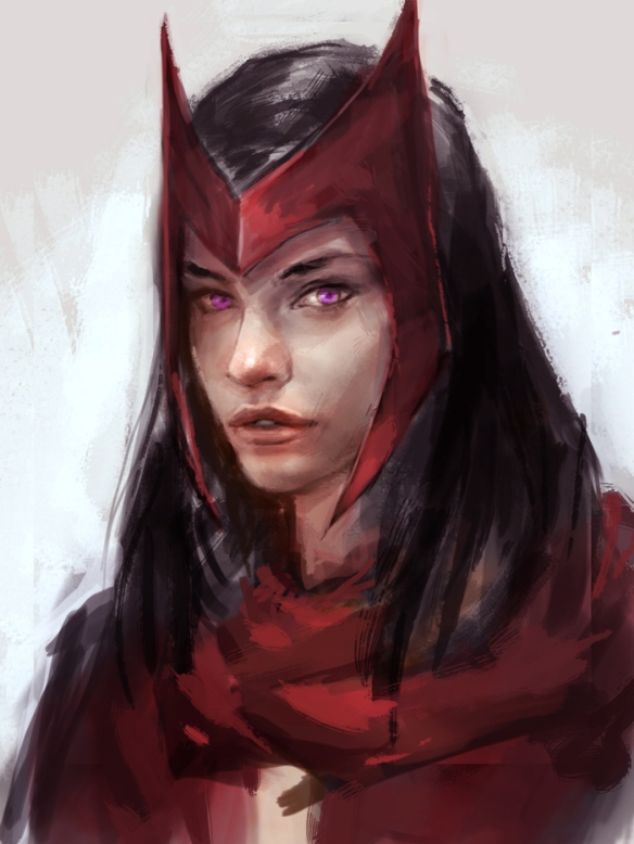 Scarlet Witch portrait by Xia Taptara
