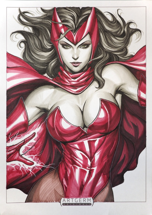 Scarlet Witch Commission by Artgerm