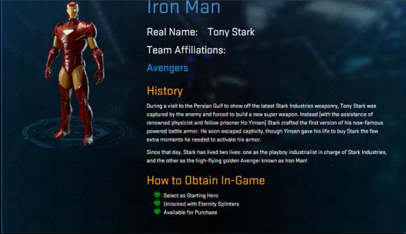 Iron Man - Marvel Heroes 2016