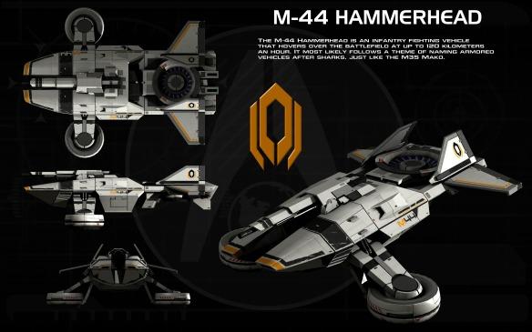 M-44 Hammerhead ortho fan art by unusualsuspex