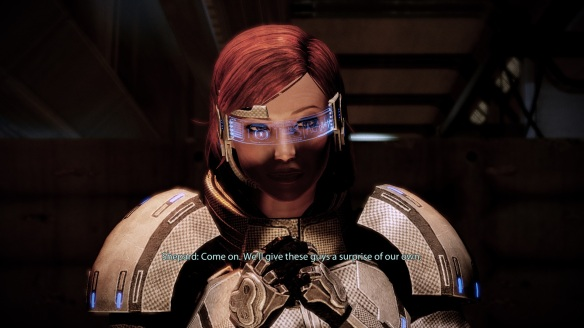 Agnes Shepard, ME2, Getting ready to kick ass