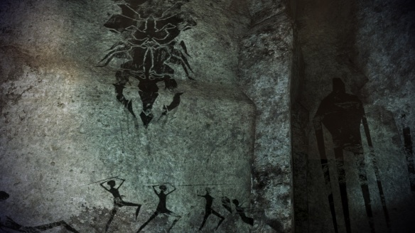 Cave Paintings on the planet of Namakli in Mass Effect 3, Leviathan DLC