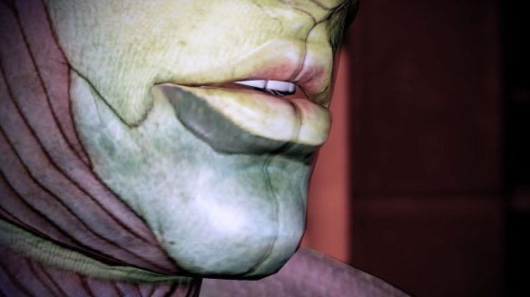 I mean just look at those sensuous lips. Never mind that his face looks like it might open up like Predator's.