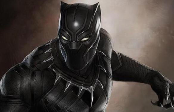 Black Panther promotional still from Captain America: Civil War