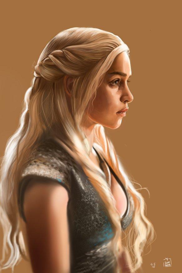 Daenerys Targaryen by Yaşar Vurdem (click to visit original)