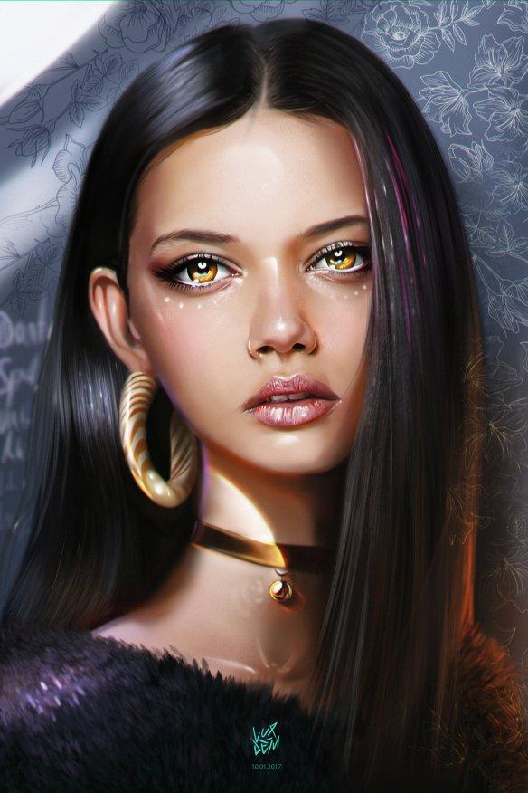 Marina Nery Portrait by Yaşar Vurdem