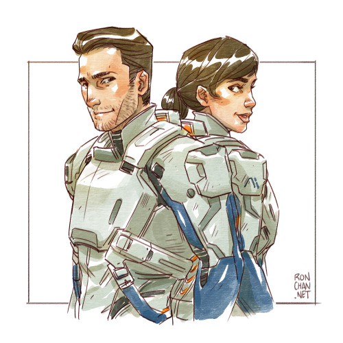 Scott and Sarah Ryder by Ron Chan (click image to visit original)
